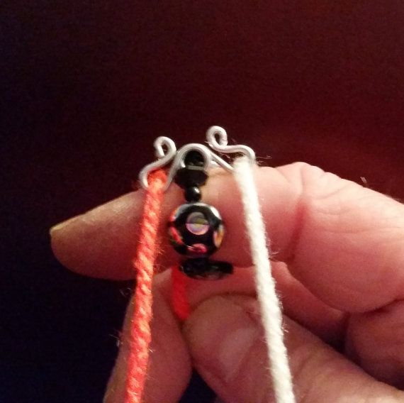 Knitting Ring Yarn Guide : Yarn guide ring black knitting accessory two color