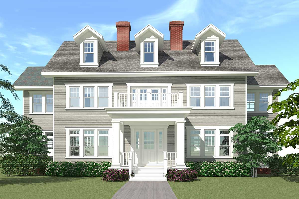 Plan 44040td For The Large Family Colonial House Plans Colonial House Exteriors Colonial House