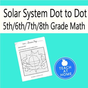 Solar System Dot to Dot, Graphing Ordered Pairs, Hidden Picture ...