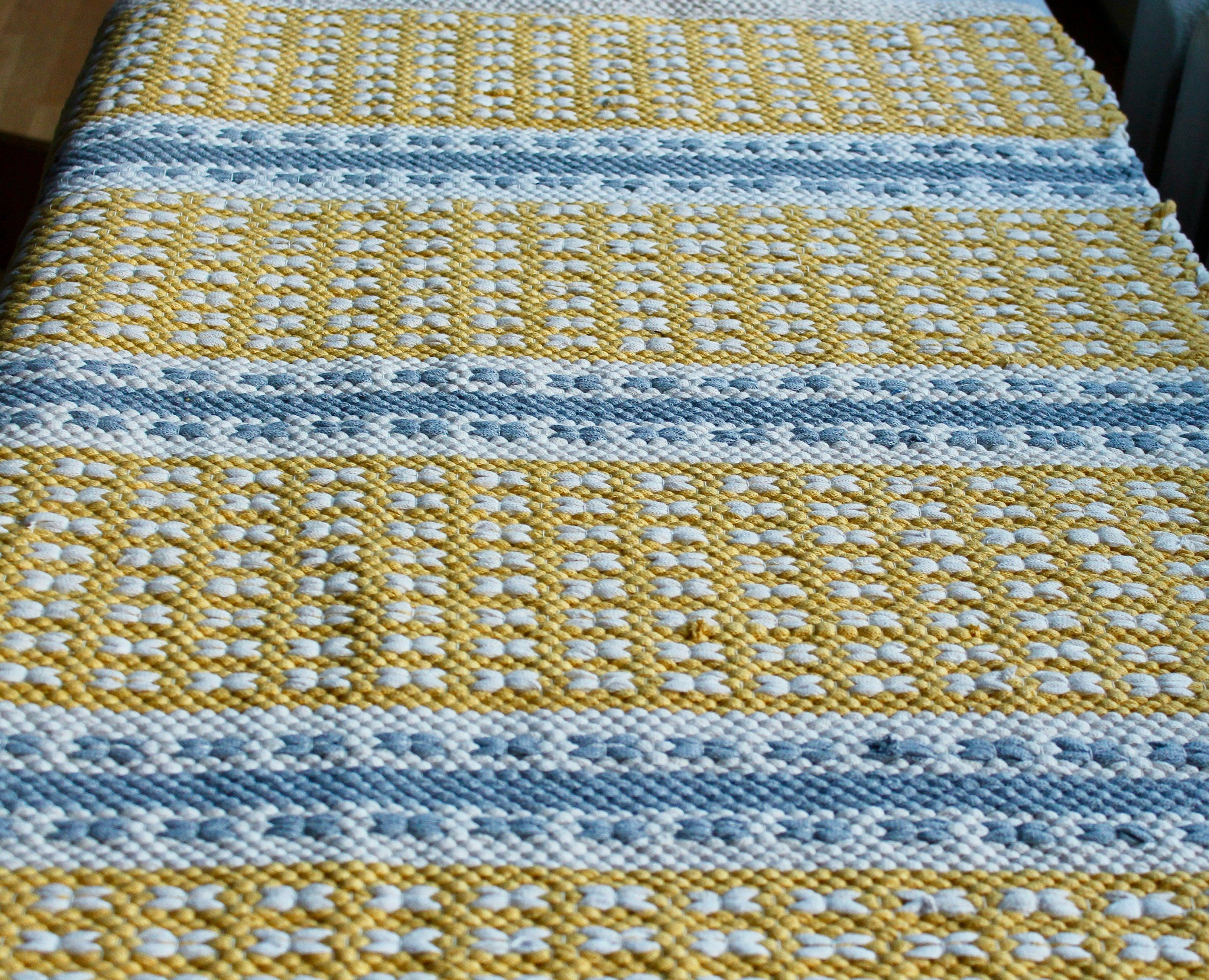 Yellow And White Striped Small Rug Yellow And Gray Cotton Rug