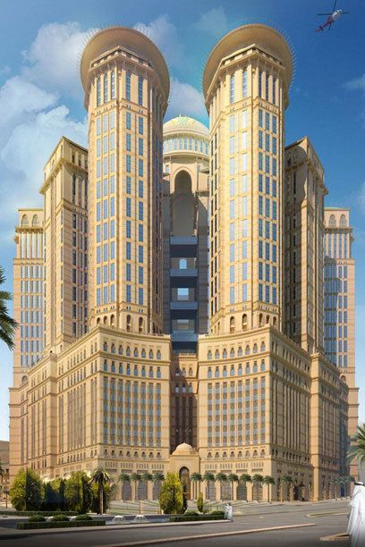 World S Largest Hotel With 10000 Rooms To Stand Tall In Mecca Blogrope Hotel Architecture Amazing Buildings Skyscraper Architecture