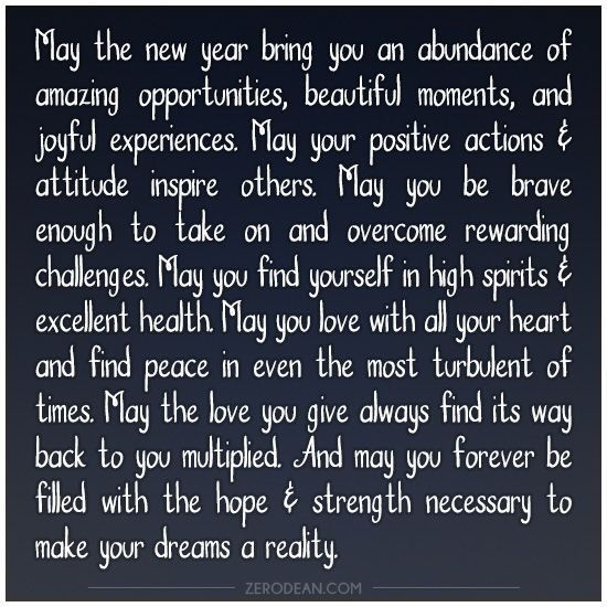 new years wish