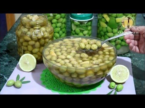 ترقيد الزيتون الاخضر طريقة ناجحة 100 و قياس تركيز الملح بالبيضة لحفظه جيدا و لمدة أطول Youtube Vegetables Food Entrees
