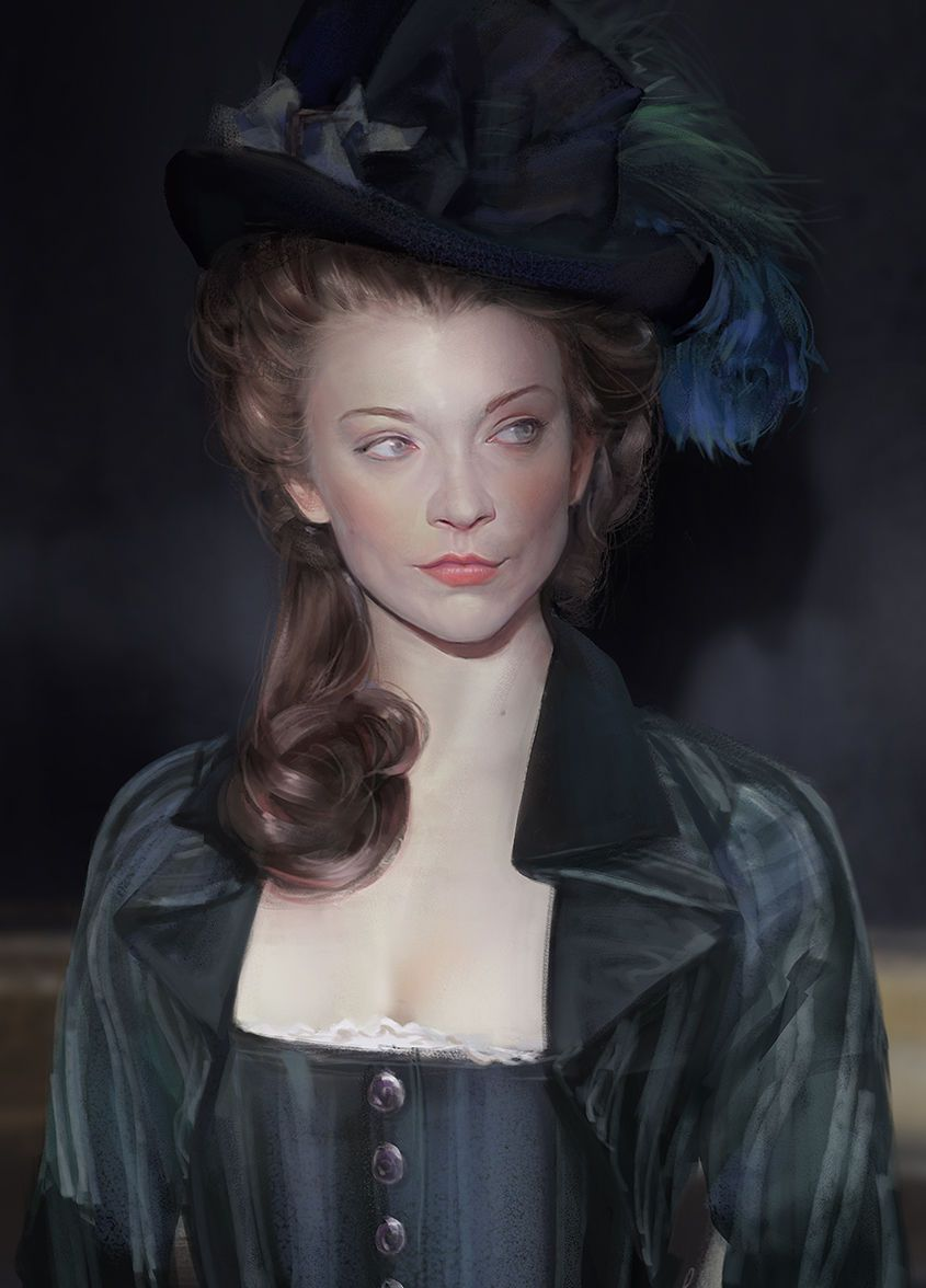 d4411c99b2adc Natalie-Dormer - Beautiful fan art by China based artist and illustrator  Caviar Xu. Check out ...