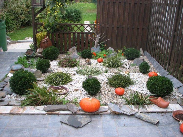 steingarten anlegen buchsbaum kugeln kies schicht garten pinterest steingarten anlegen. Black Bedroom Furniture Sets. Home Design Ideas