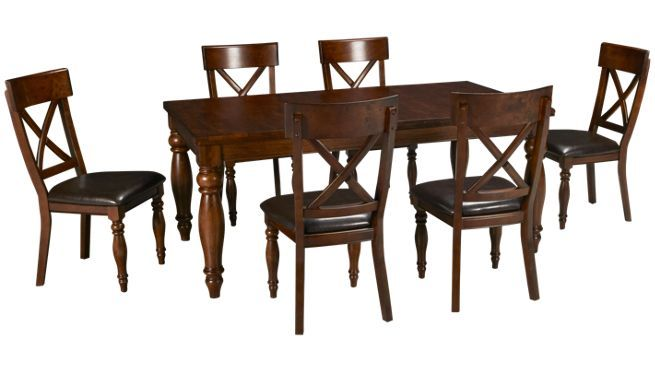 Jordan S 7 Piece Dining Room Set 1 099 00 Dining Set 7 Piece Dining Set Dining Set With Bench