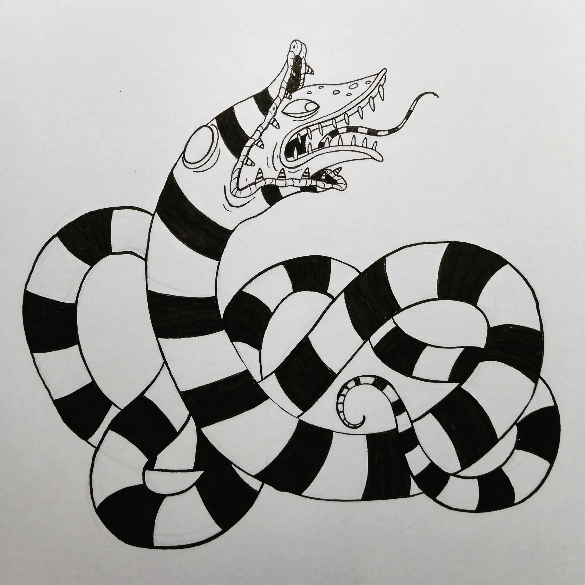Pin By Sophie Pearce On Drawing Beetlejuice Tattoo Tim Burton Art Halloween Tattoos