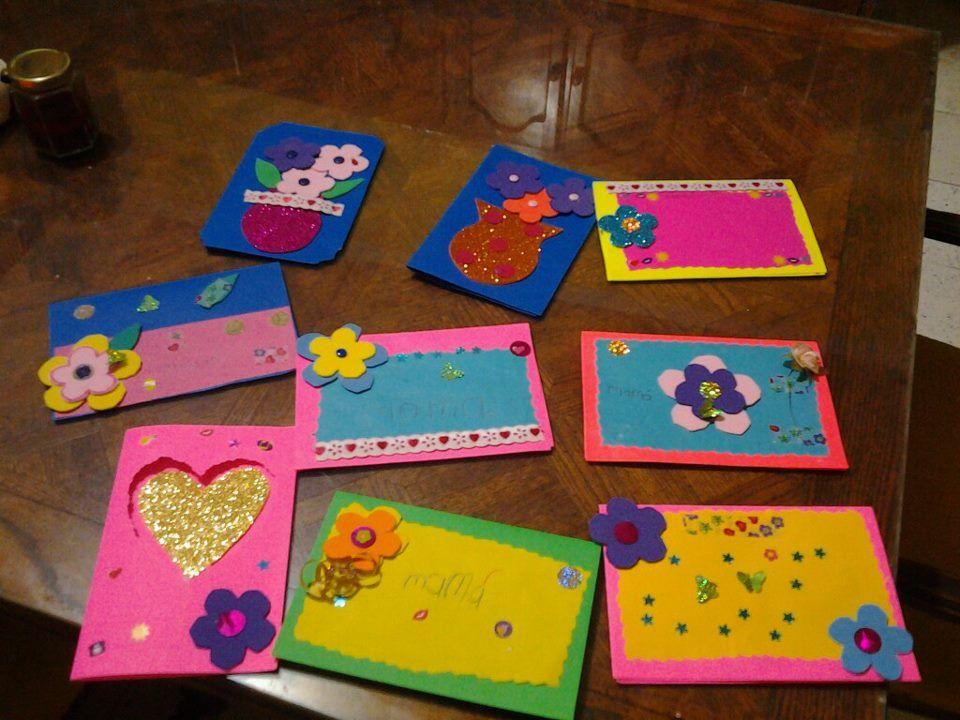 Tarjetas de mis alumnos 3 materiales manualidades - Cosas de manualidades para ninos ...