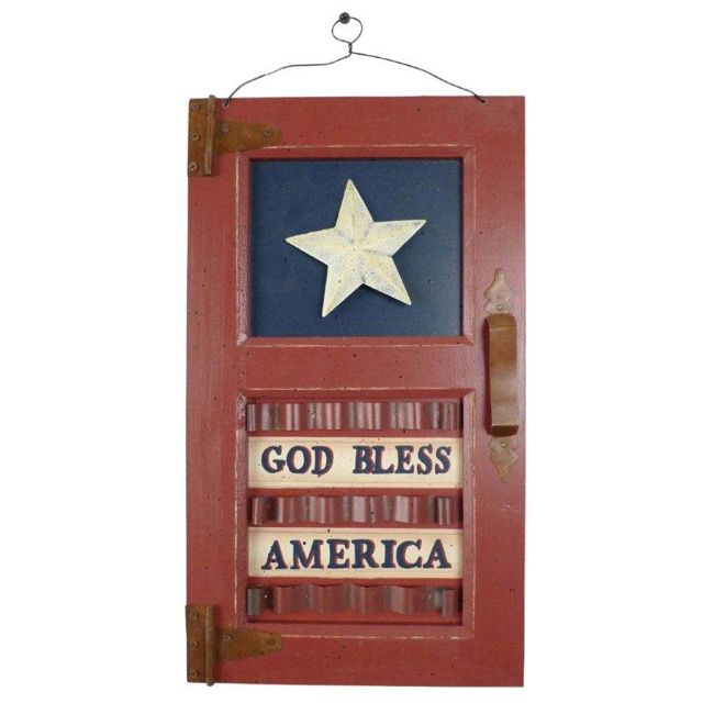 Americana Wall Decor Plaques Signs God Bless America  Americana  Pinterest