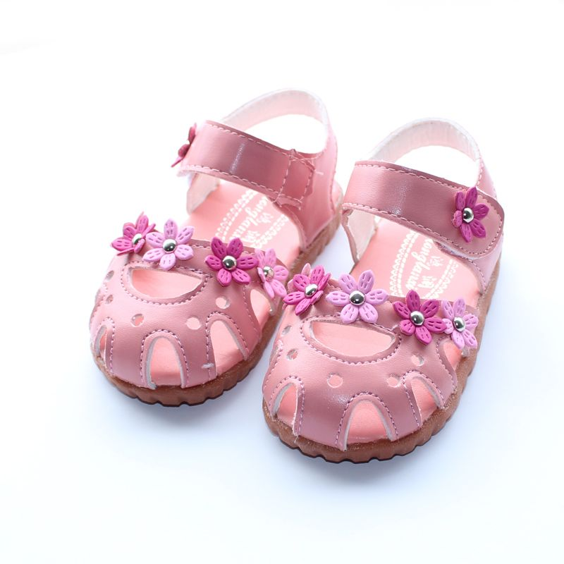 >> Click to Buy << 2016 baby girls sandals shoes children rivets flower toe cap covering sandals kids soft leather sandals child princess shoes #Affiliate
