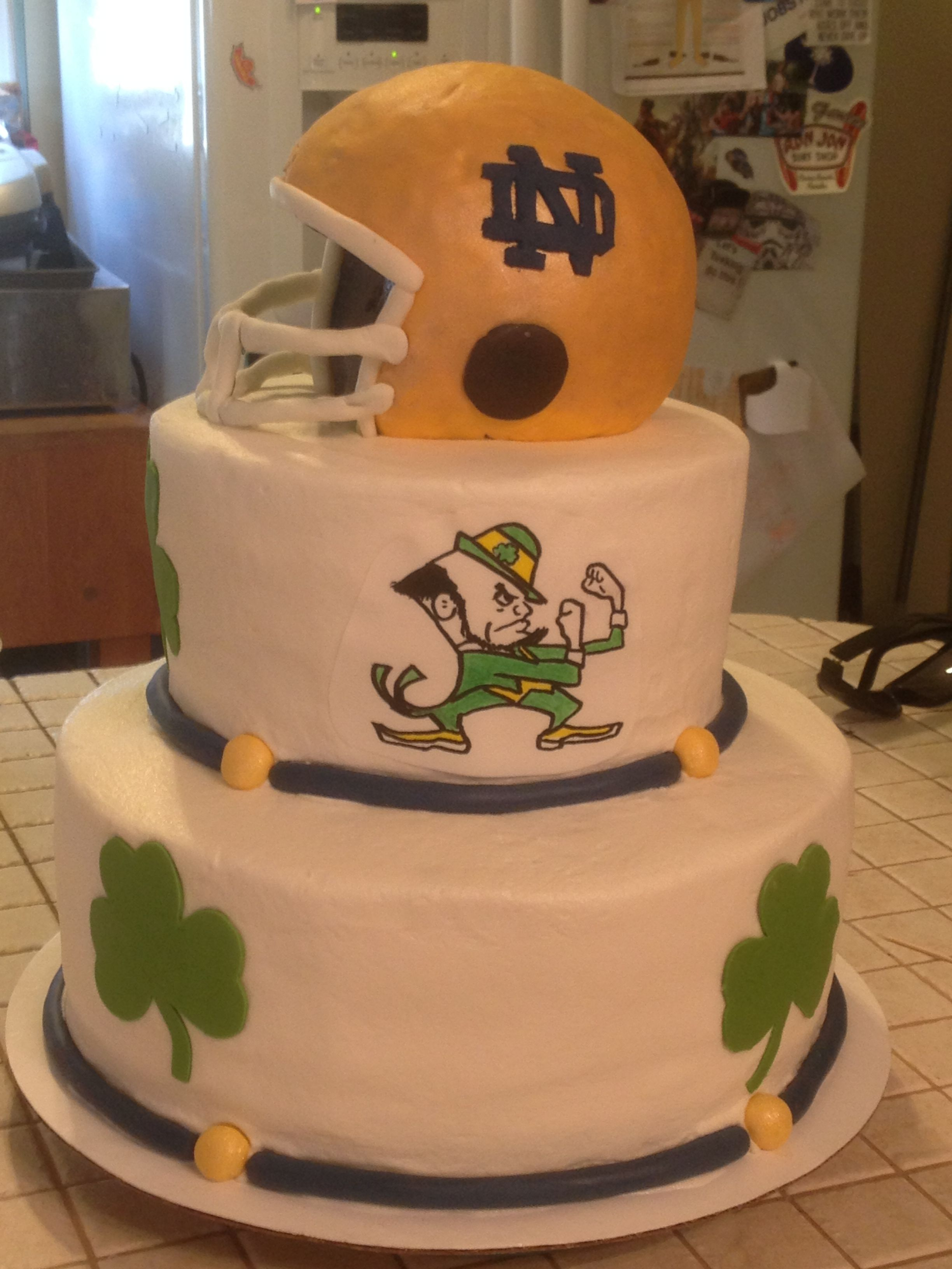 Notre Dame cake Irish cake, Themed cakes, Tiered cakes