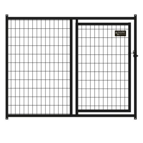 4 X 5 Black Welded Wire Kennel Panel Gate 49 Menards Dog Kennel Outdoor Dog Crate Laundry Room