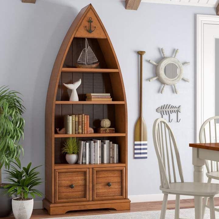 Good Cheap Furniture Online: Longshore Tides Vella Boat Standard Bookcase In 2019