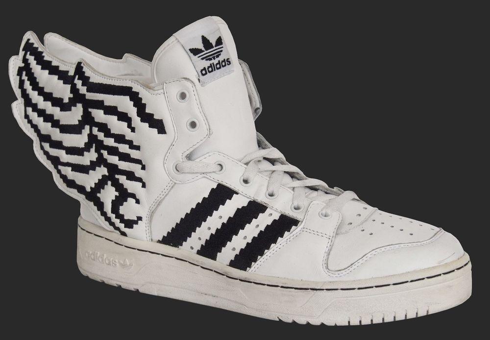 Adidas Originals Jeremy Scott Wings pixel cuero blanco negro
