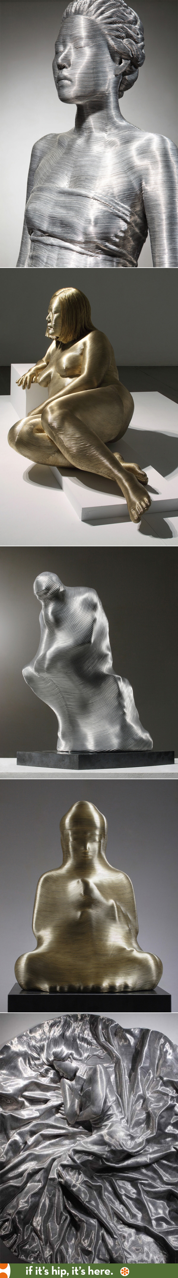 The wire-wrapped sculptures by Park SeungMo are amazing.