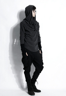 Long-sleeve Hooded Sweater $60.21 USD available in grey or black || http://www.yesstyle.com/en/rememberclick-long-sleeve-contrast-trim-hooded-top/info.html/pid.1036588520