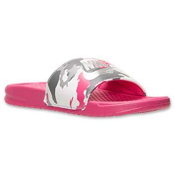 7b5417f8bf5d womens nike benassi jdi print slide sandals