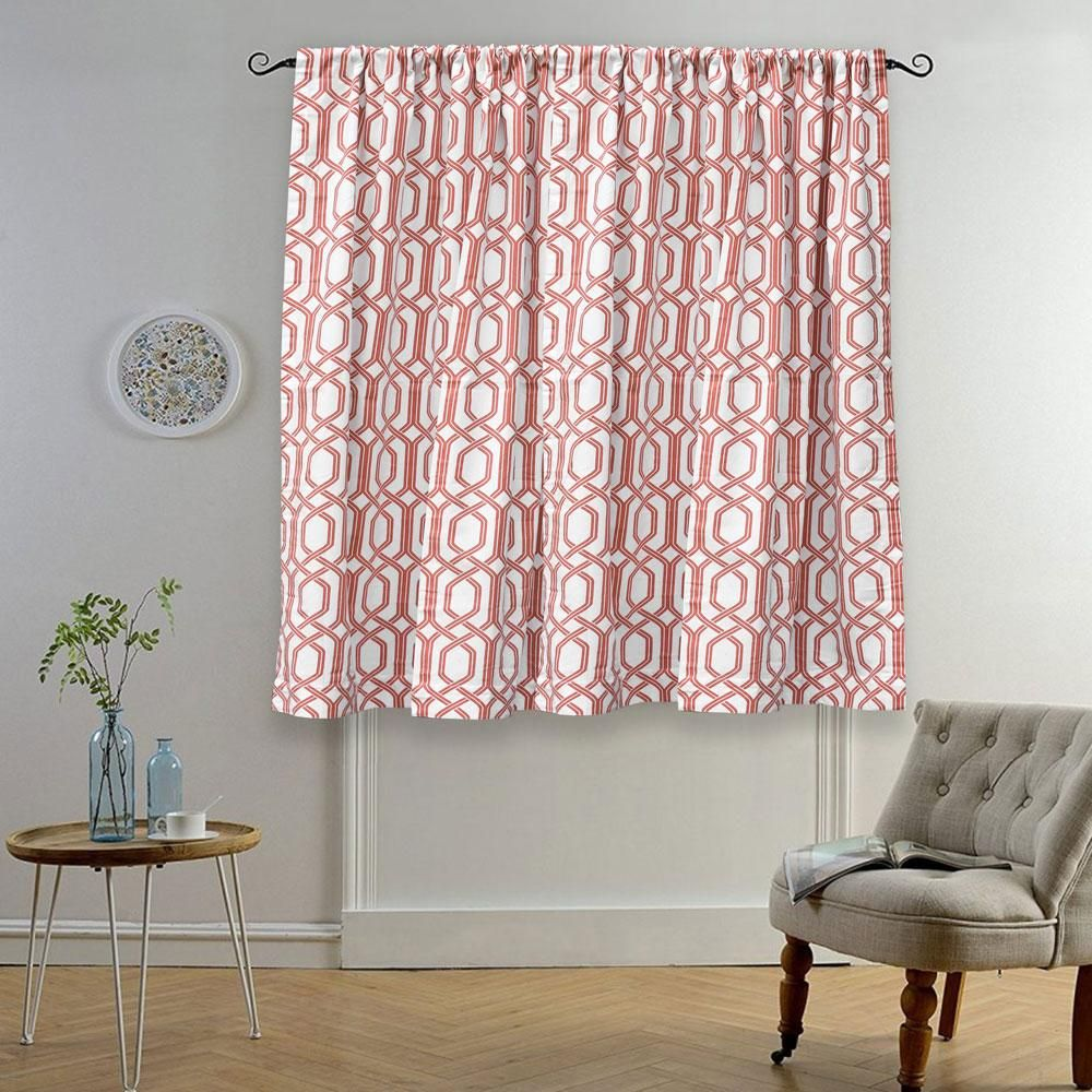 Mb Ruijin Printed One Piece Pocket Tab Top Curtain Tab Top