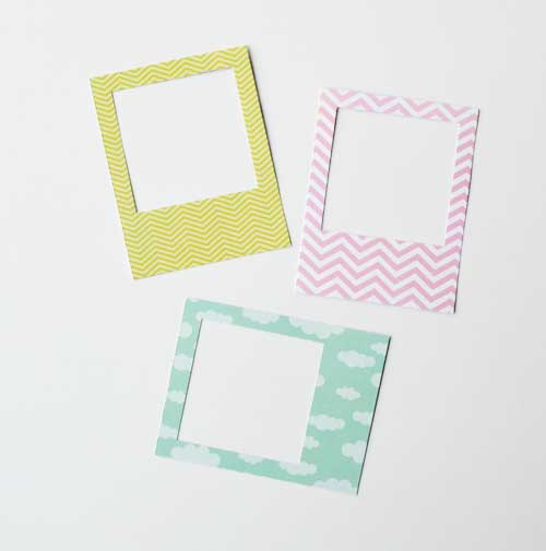 DIY Poloroid Frames http://create.northridgepublishing.com/wow-134 ...