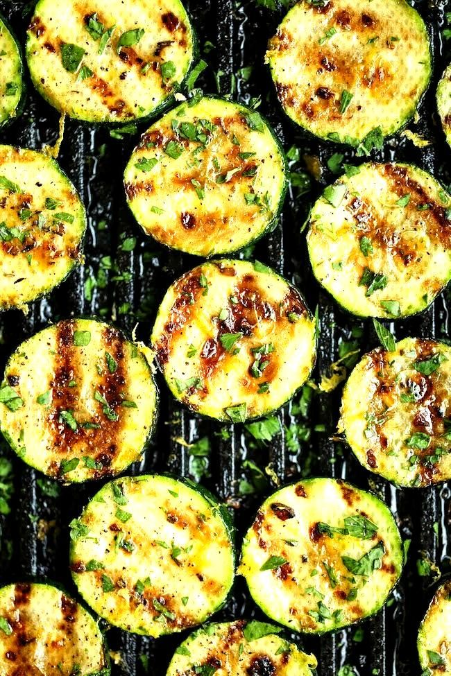 Grilled Lemon Garlic Zucchini -