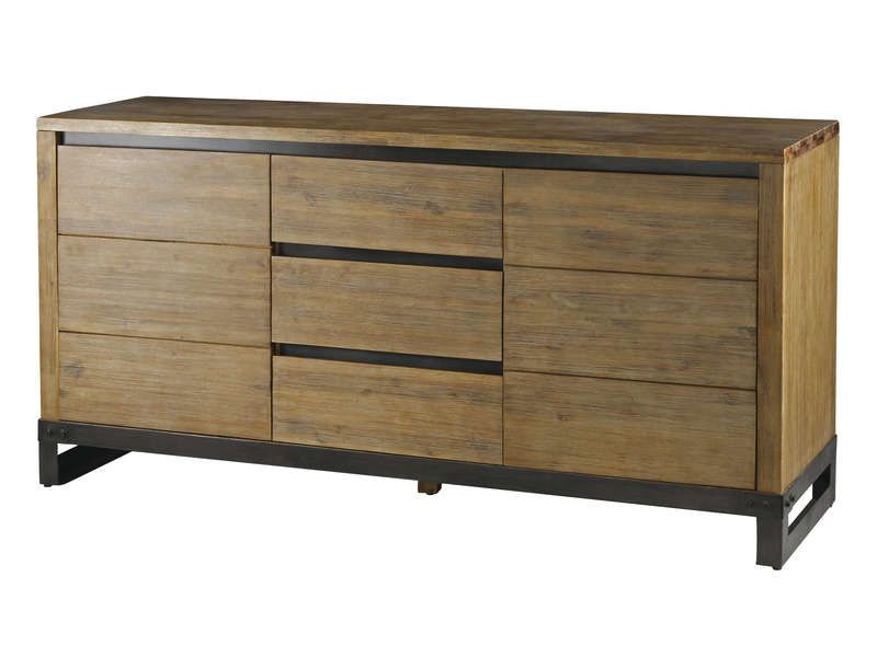 Buffet conforama achat buffet pas cher le bahut 2 portes for Meuble style factory
