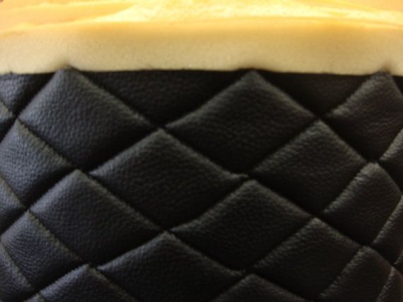 Black Quilted Vinyl Fabric With 3 8 Foam By Fabulessfabrics