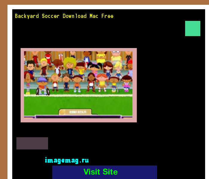 Backyard Soccer Mac Download