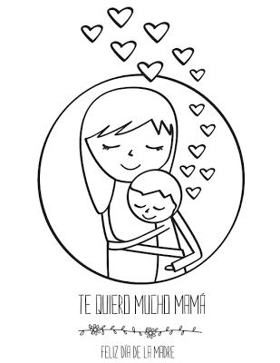 Tarjeta Del Día De La Madre Para Colorear Tarjetas Del Día