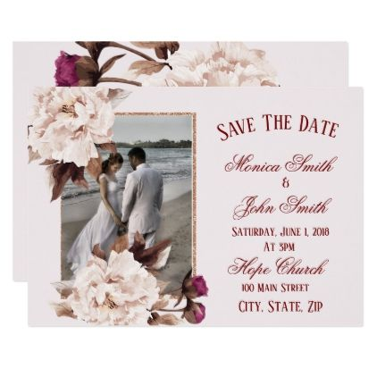 Pink peony watercolor floral wedding save the date card cyo pink peony watercolor floral wedding save the date card cyo customize design idea do solutioingenieria Gallery