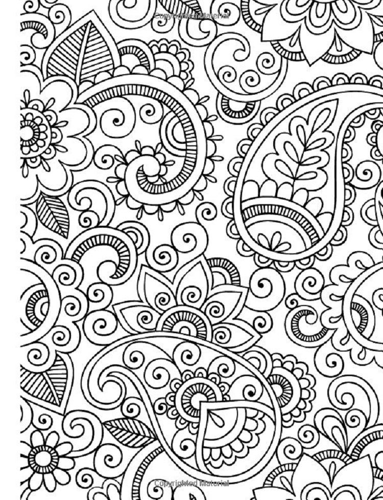 Abstract Relaxation Coloring Pages Coloring book art