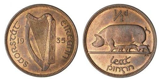 how to find the value of old irish coins