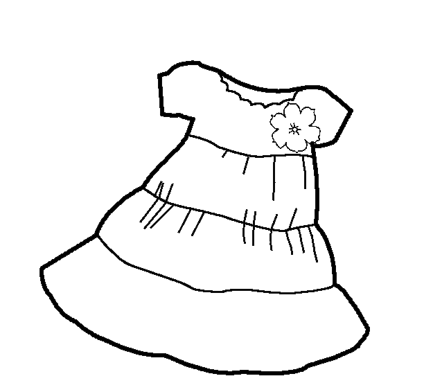 girls dress clothes Coloring pages