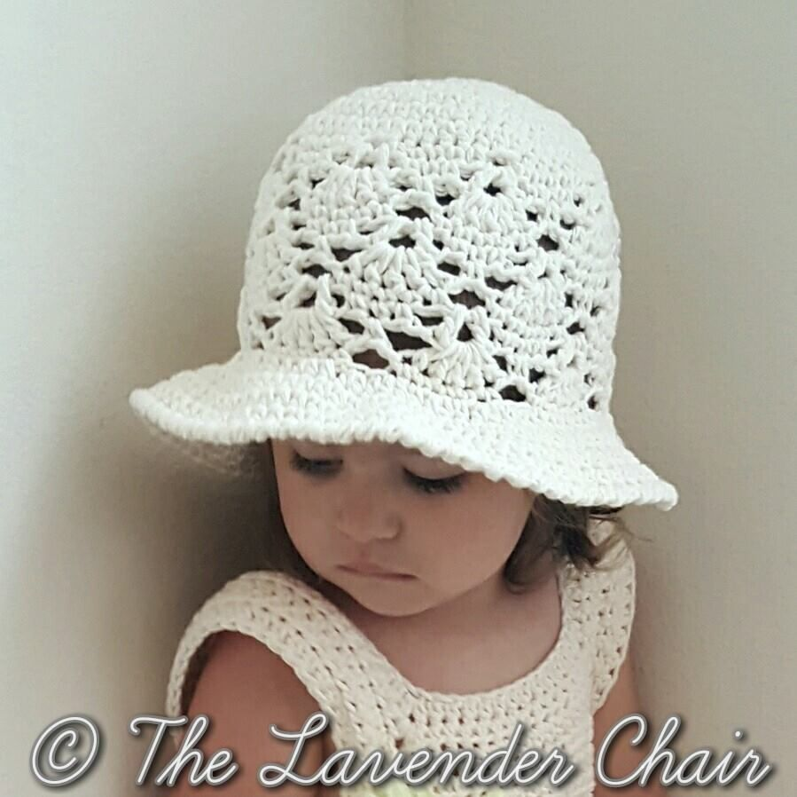 Vintage sun hat infanttoddlerchild crochet pattern the lavender vintage sun hat infanttoddlerchild crochet pattern bankloansurffo Choice Image