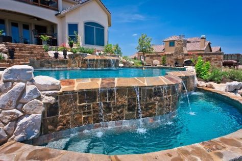 House Beautiful App piscina cascada, small pools, piscina cascata, pinterest app