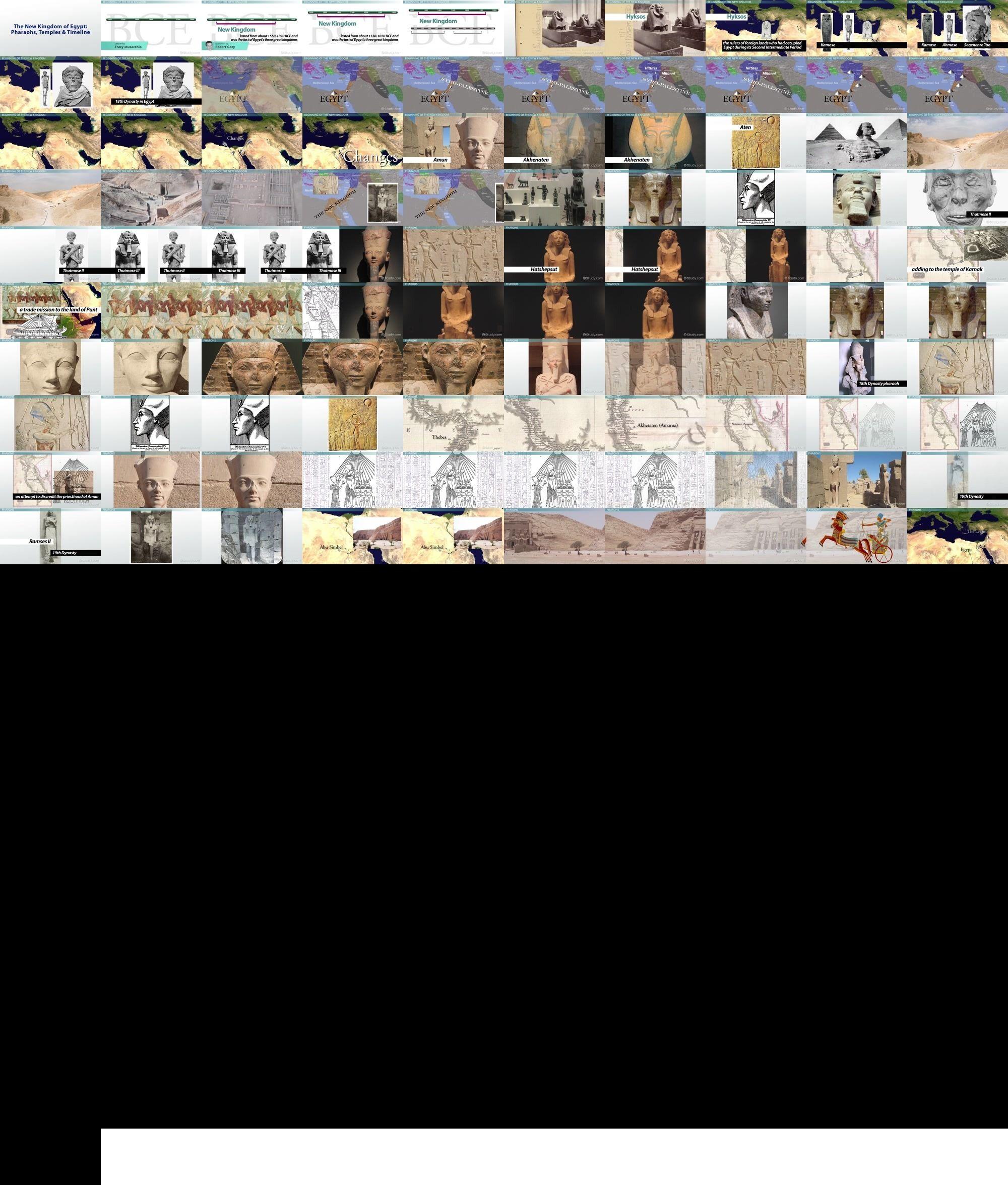 The New Kingdom Of Egypt Pharaohs Temples Amp Timeline