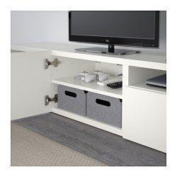 BESTÅ Tv-meubel, Lappviken wit - 180x40x38 cm - Lappviken wit - laderail, druk-en-open - IKEA