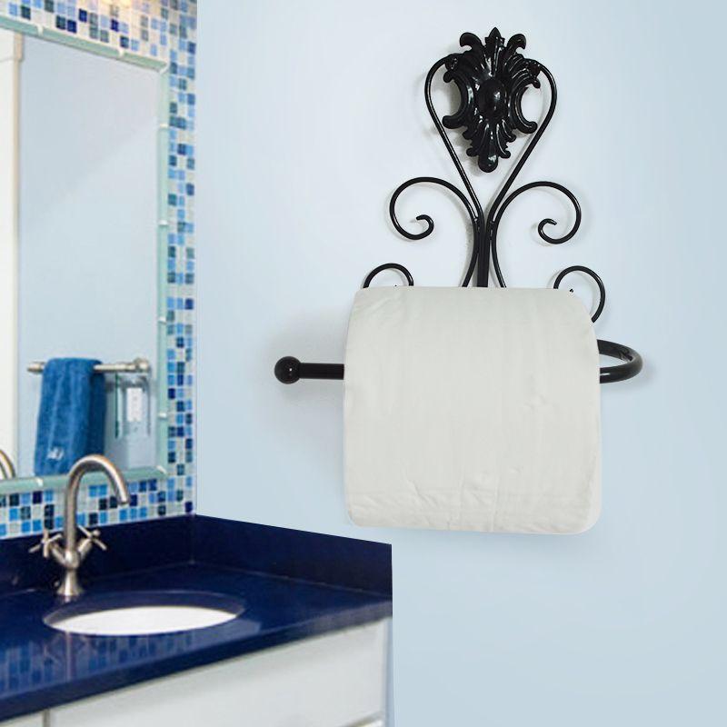 Vintage Wall Mounted Toilet Paper Roll Hanger Towel Rack Holder