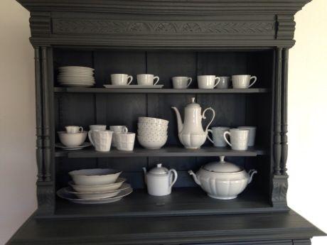 DIY « ♧ Relooker un buffet Henri II ♧ » Buffet - Peindre Un Meuble En Gris