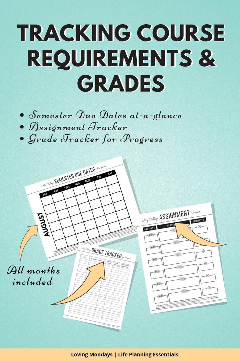 Best Gifts For College Students 2020.College Student Planner 2020 Academic Planner Printable