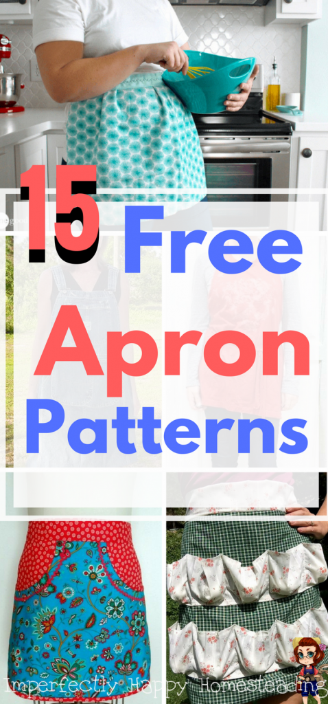 15 Free Apron Patterns - Easy to Sew & No Sew Aprons Perfect for ...