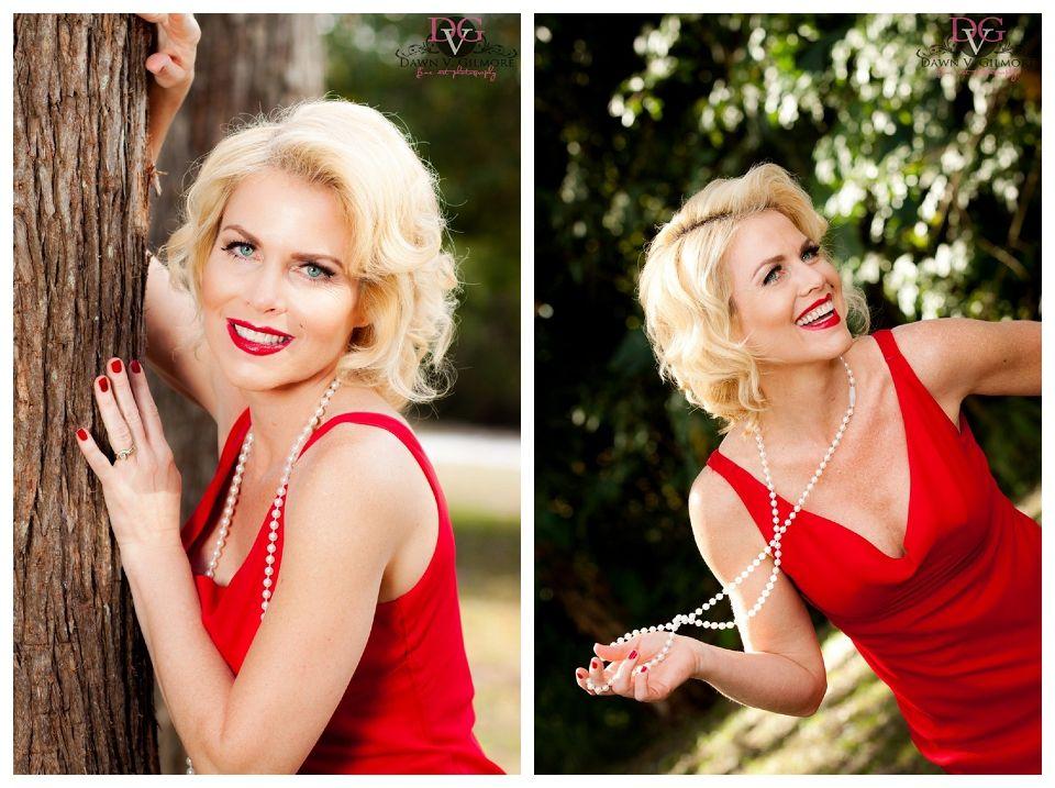 Marilyn Monroe inspired. Cute concept.