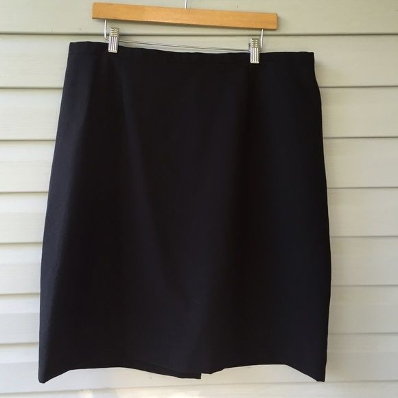 "Little black skirt 22W Easy where little black skirt zip or button back with elastic waist panel on back only by Kathie Lee easy care machine washable polyester. 38"" waist, can go larger. 24"" in length. Kathie lee Skirts Mini"