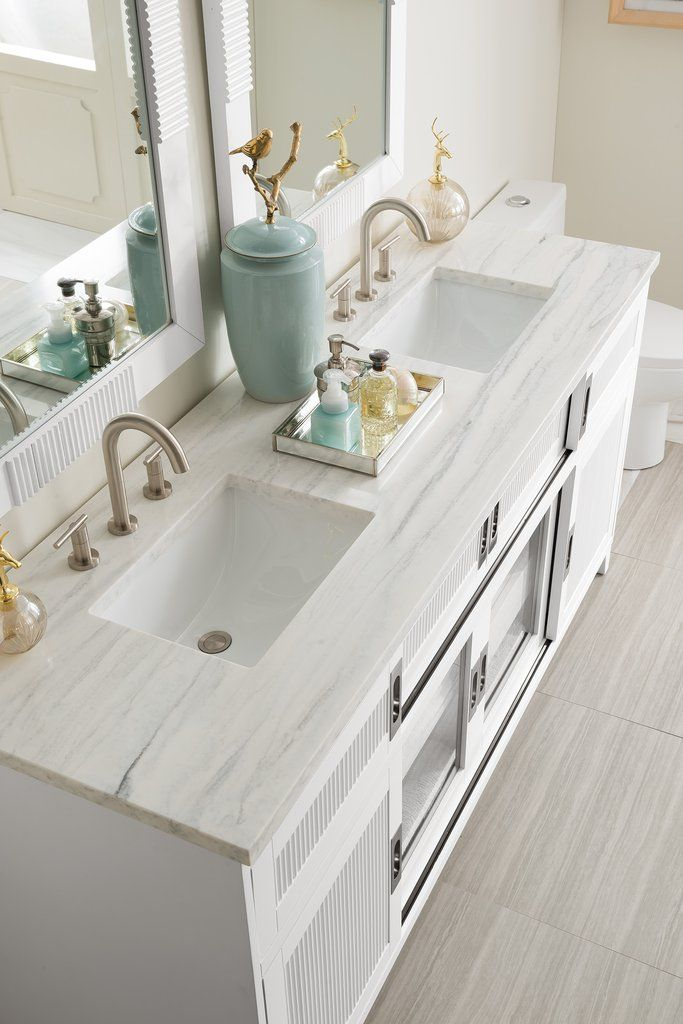 """72"""" Weston White Double Sink Bathroom Vanity in 2019 ..."""