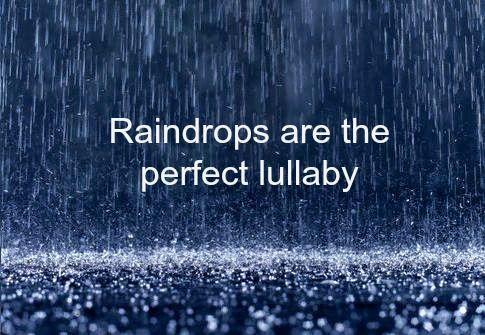Heerlijk om bij t geluid van de regen bij elkaar in slaap te vallen ... lieverd , slaap lekker en droom jouw mooiste droom ... ik hoop dat je morgen kunt uitslapen :-)) .... zou heerlijk zijn ...