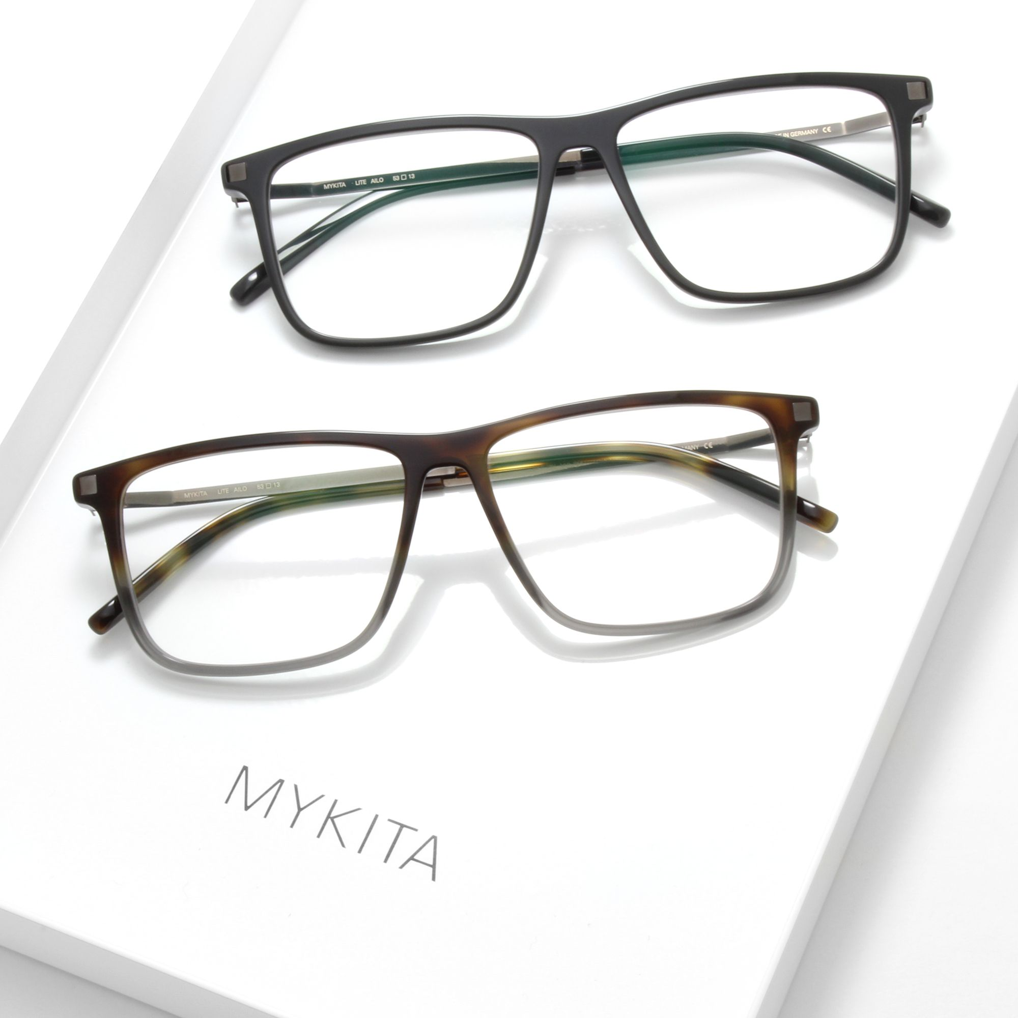 8ffb4b7d42 The MYKITA    AILO Eyeglasses for men is a material mix where the warmth of