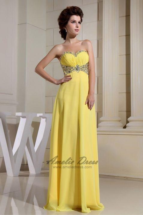 a77c8d2f692b Brilliant Empire Beading Pleats Floor-Length Dress - Special Occasion  Dresses