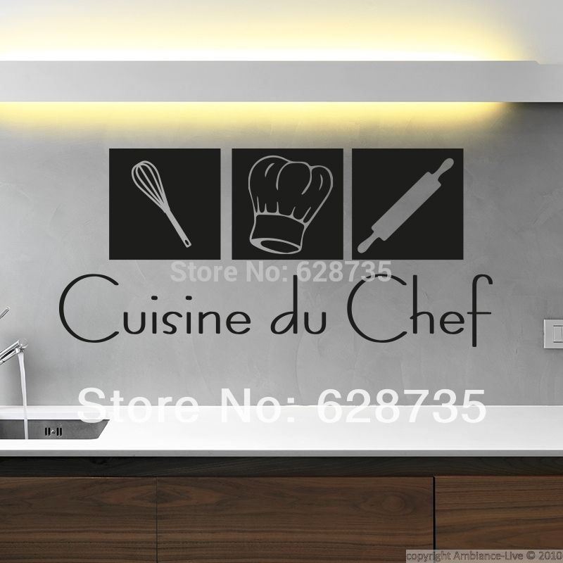 Free Shipping Modern French Wall Stickers Cuisine Home