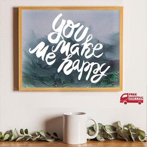 Wall Art Decor, Canvas Painting, Original Painting DIY Quotes ...
