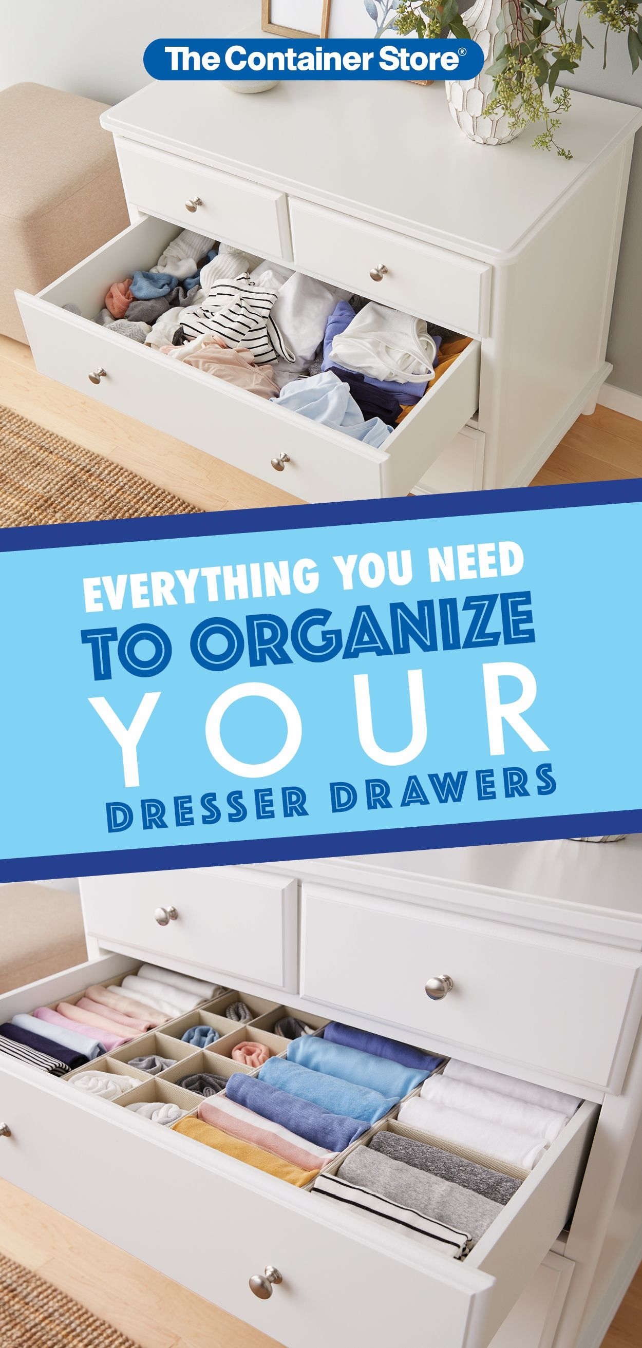Keep Those Drawer Nice And Neat With These Awesome Organizers Clothes Drawer Organization Deep Drawer Organization Closet Organizer With Drawers