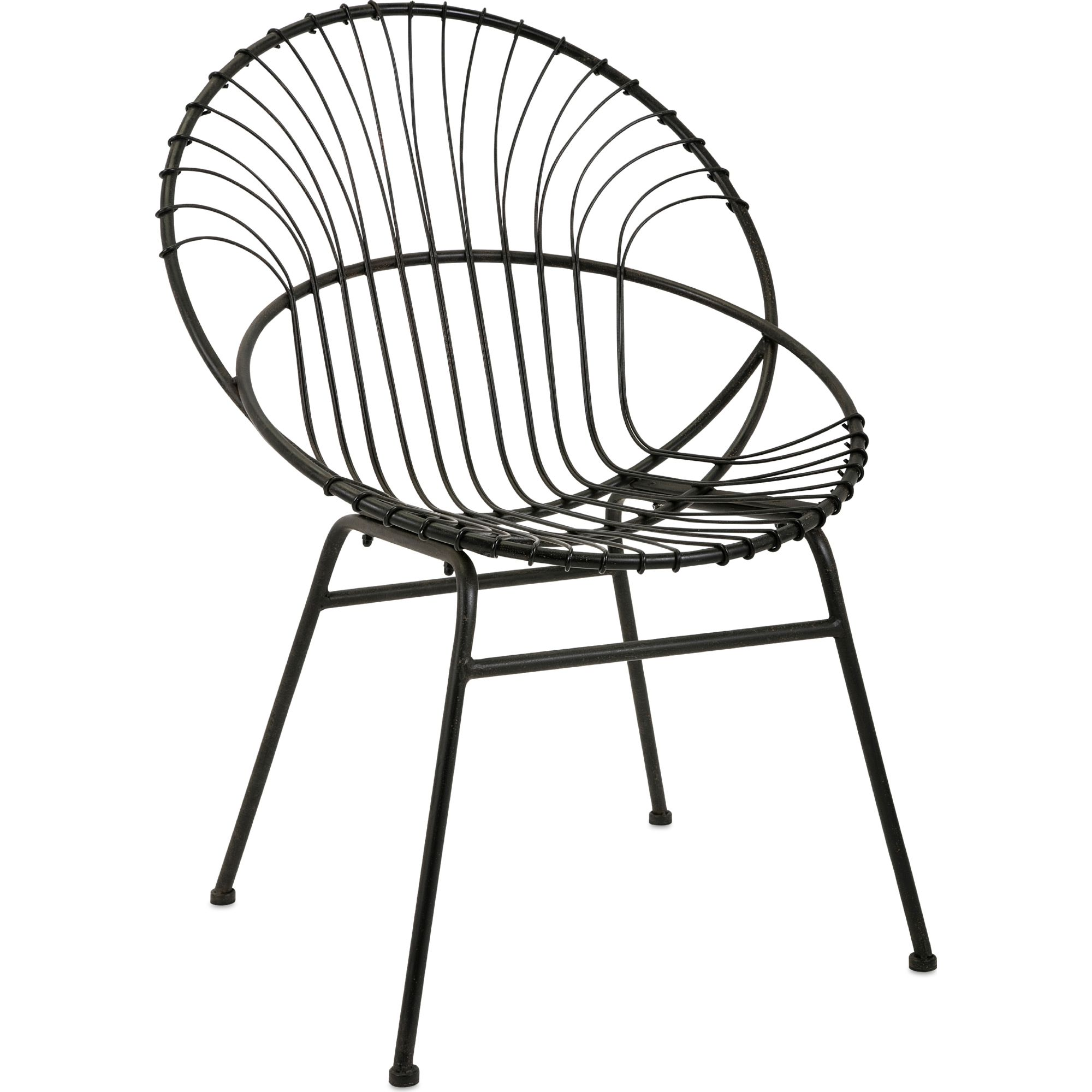 Black Iron Round Accent Chair Dynamichome Round Accent Chair